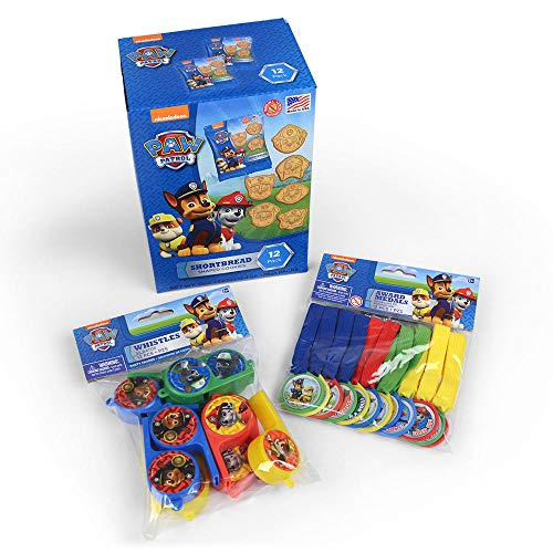 Primary Colors Candy Paw Patrol Birthday Party Supplies Including Cookies and Toys for 12 ()