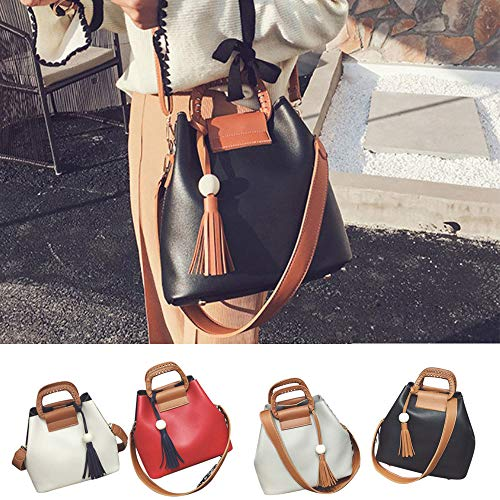 Ladies Shoulder Tote Tassel Bag Crossbody Hobo Handbag White Fashion Bag KIMODO Messenger g807OOX