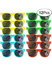 12 Pack Multi Coloured Sunglasses Perfect for Birthdays Party Gifts Or Simply to Wear Outdoors