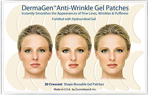 DermaGen Anti-Wrinkle Patches with Hydrocolloid Gel (Crescent)