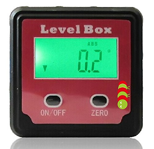 Magnetic Bubble Spirit Level Digital Angle Finder Gauge Protractor Inclinometer Bevel Box Plus Pouch (supplied in a gift box) Caterpillar Red