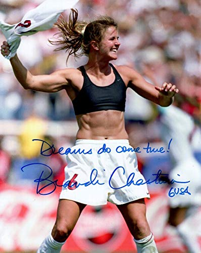 Autographed Chastain Picture - 8x10 COLOR +COA GREAT WORLD CUP CELEBRATION - Autographed Soccer - World Soccer Cup Photo 8x10