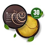 Mizon Under Eye Patches 24K Gold Snail Eye Treatment Mask Reduces Wrinkles and Puffiness Lightens Dark Circles, Hydrogel Eye Patches, Under Eye Bags Treatment, Eye Mask for Puffy Eyes (30 pairs, 60ea)
