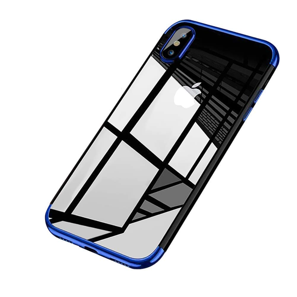 Felfy Clair Coque pour iPhone XS Max, iPhone XS Max Coque de Protection Antichoc Transparente comme Cristal Doux TPU Silicone Case Anti-Rayures Absorption de Choc Bumper PremiumEtui, Argent Okssud DYY2018002492#03