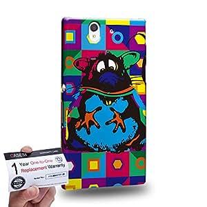 Case88 [Sony Xperia Z] 3D impresa Carcasa/Funda dura para & Tarjeta de garantía - Art Drawing Mouse Kawaii Abstract Animals