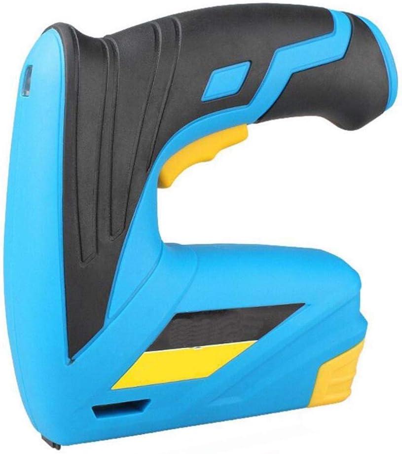 WLA Electric uñas Pistola de Clavos inalámbrica del hogar Pistola eléctrica, batería de Litio eléctrica Pistola de Clavos, la decoración del hogar de la Grapadora, Cargador