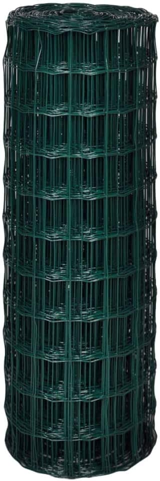 vidaXL Euro Zaun Maschendrahtzaun 10x1,7 m mit 100x100 mm Maschendraht Stahl