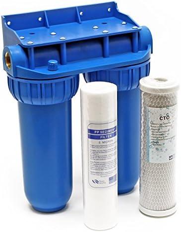 Naturewater NW-BR10B2 Filtro de agua doble Cartucho-PP 26,16mm (3/4