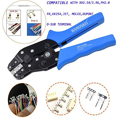 SN-01BM Terminal Crimper Ratcheting Wire Connector Crimping Tool Professional Uninsulated Receptacles and Tab Terminal Crimping Tool 28-20 AWG 0.08-0.5mm