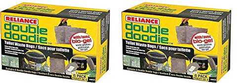 Reliance Products 2683-03 Double Doodie Toilet Waste Bags (2 X Pack of 6)