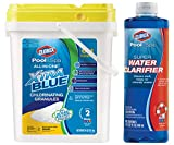 La Rosticceria Clorox Pool and Spa All-in-One Xtra Blue Pool Chlorinating Granules, 40 Pound Bundle with Pool and Spa Super Water Clarifier for Swimming Pools, 32 Ounce