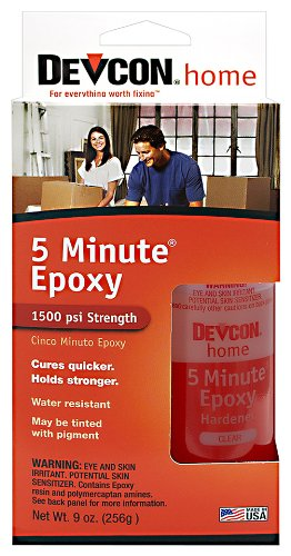 (Devcon (20945-6PK 5-Minute Epoxy - 4.5 oz. 2 Part Bottle, (Pack of 6))