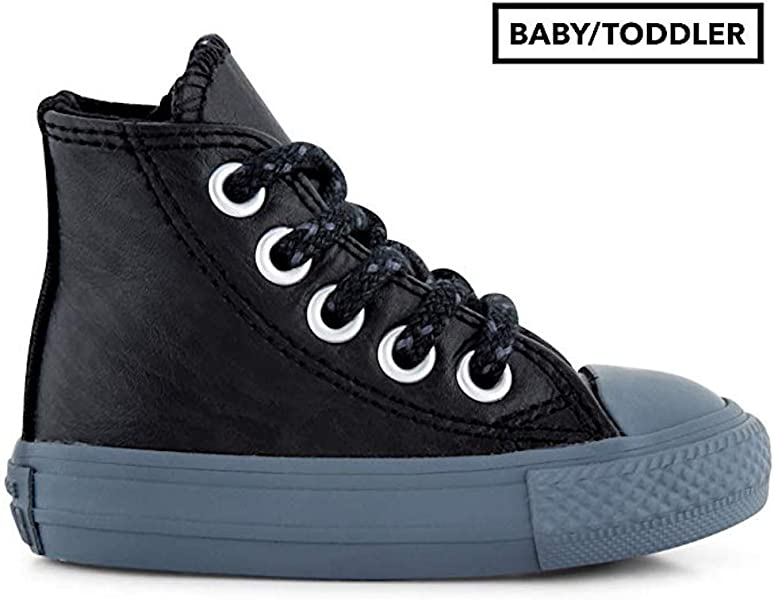a2a4bf1a3581 Converse Kids Chuck Taylor All Star Leather Thermal - Hi Infant Toddler  Black Black