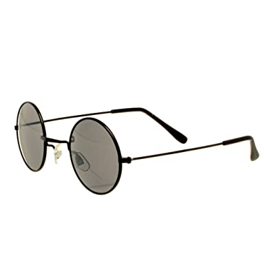 162538cf1e13 Image Unavailable. Image not available for. Colour: Small Round 'John Lennon'  Style Sunglasses with Black Frame ...