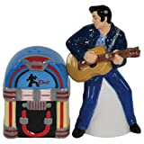 Westland Giftware Elvis Presley Elvis and Jukebox 4-1/4-Inch Magnetic Salt and Pepper Shakers