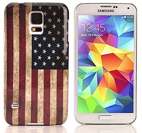 BestBuy-24 case USA Flagge für smartphone SAMSUNG GALAXY S5 i9600, Hülle cover retro US Flag vintage, stars and strips