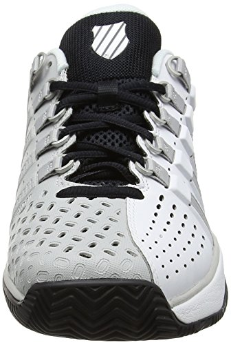 K-Swiss Performance Men's Hypermatch Hb Tennis Shoes, Fiery Red/Black White/Gull Gray/Black