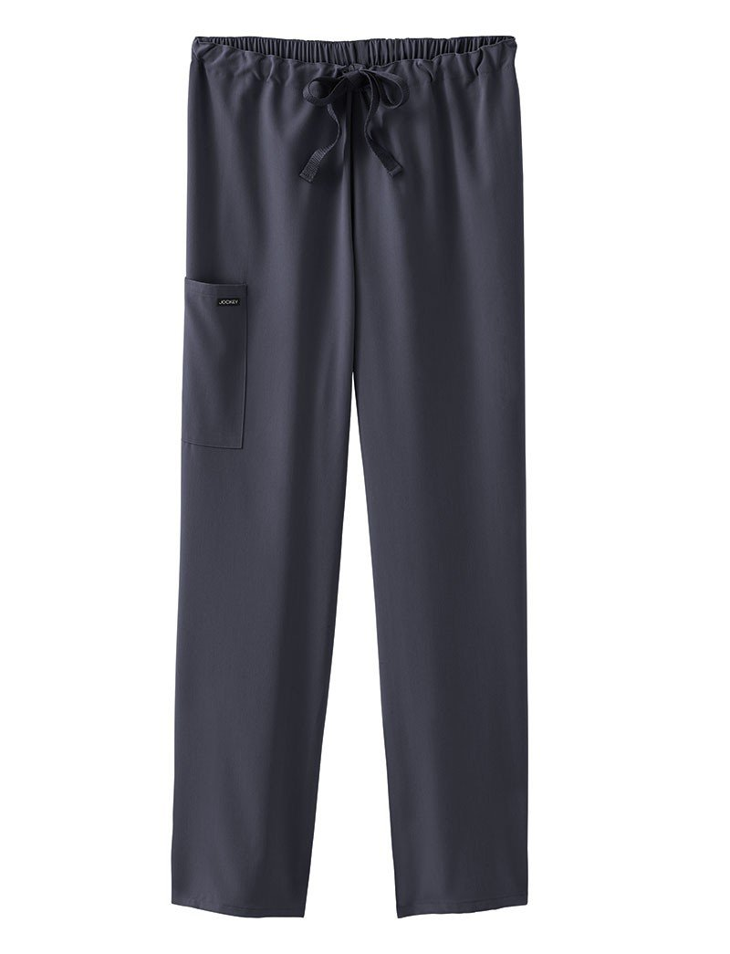 Classic Fit Collection by Jockey Unisex Drawstring Elastic Pant X-Small Tall Charcoal