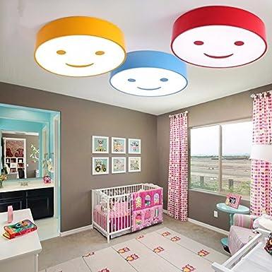 GQLBCartoon Farbe Kinderzimmer Deckenleuchte LED-Rundschreiben Wohnzimmer 25 W Tischlampe 400*400*100 mm, Gelb [Energieklasse A++]