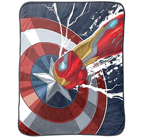 Marvel Captain America Civil War Plush Throw, 50