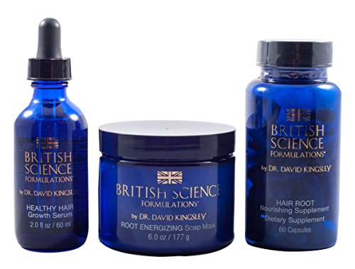 The Complete 3-Step Program by British Science Formulations - 3 Steps to Healthy Hair Growth and Repair - By the World Renowned Hair Loss Expert, Dr. David Kingsley