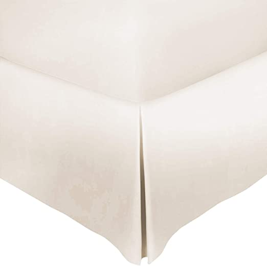 Pleated Model for Classy Look Mayfair Linen 800 Thread Count 100/% Cotton Twin Bed Skirt to Match Your Bedding Black