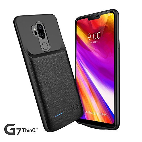 LG G7 Battery Case, Newdery 4700mAh LG G7 Slim Portable Extended Charger Case with Soft Edge Full Protection, Battery Charging Juice Pack Case [USB - C Input] for LG G7 ThinQ by NEWDERY