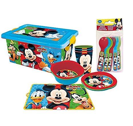 Stor Vamos de Picnic - Pack de menaje infantil picnic, diseño Mickey: Amazon.es: Hogar