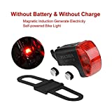Cheap Self Powered Bicycle Rear Light LED Taillight, No Battery,No Need Charge Waterproof Safety Flashlight, Electromagnetic Spontaneous Electricity Bike Tail Light