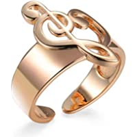 Treble Clef Music Note Open Rings for Women Unisex Lover Music Infinity Heart Shaped Jewelry Adjustable Musical Finger Rings