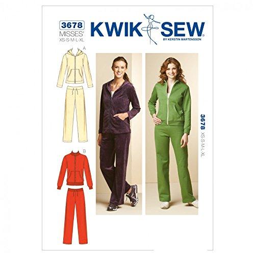 Kwik Sew Ladies Sewing Pattern 3678 Tracksuit Jacket & Sweat Pants