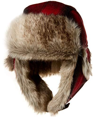 Pendleton Men's Trapper Hat, Buffalo Check Ombre, - Trapper Check Hat