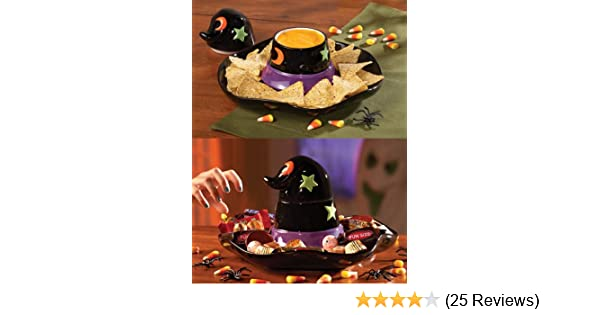 3a6e79f66db Amazon.com  Collections Etc - Witch Hat Halloween Chip And Dip Set  Health    Personal Care
