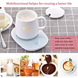 Coffee Mug Warmer for Desk, Electric Milk Tea Cocoa Beverage Coffee Cup Warmer Plate for Office Home Use with Auto Shut Off
