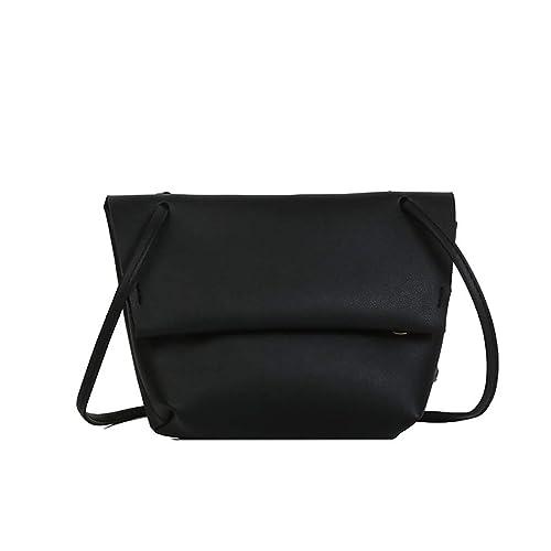 b7488c6b05a3 Amazon.com: Rakkiss Women Solid Crossbody Bag Leather Shoulder Bag ...