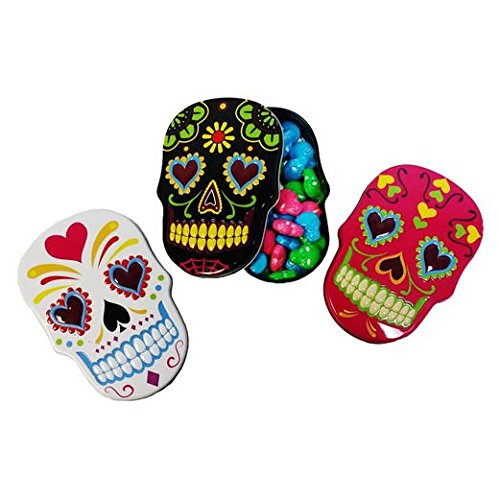 Day of the Dead Sugar Skull Candies Set of 3]()