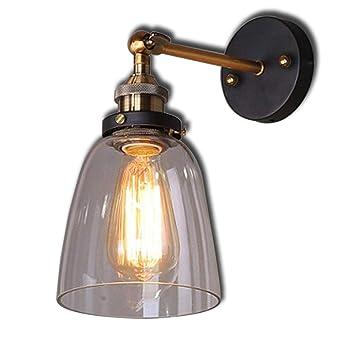 LED Wand Strahler verstellbar Wohn Zimmer Beleuchtung Glas Spot Lampe amber rost