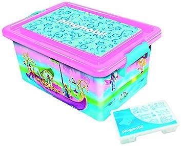 Playmobil 064671–gran caja de almacenaje 23L + caja con divisiones–Bomberos IMPEX SAS
