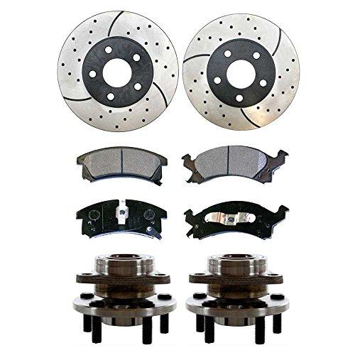 Prime Choice Auto Parts SUSPKG1069 Front Set of Performance Rotors, Pads & Hub Bearings