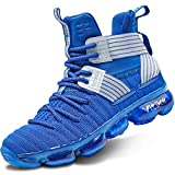 Elaphurus Kid's Basketball Shoes Boys Sneakers Girls Trainers Comfort Basketball Shoes for Boys(Little Kid/Big Kid/Teens) Royal Blue