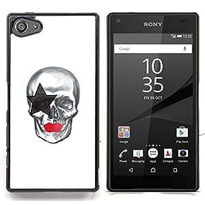 "Qstar Arte & diseño plástico duro Fundas Cover Cubre Hard Case Cover para Sony Xperia Z5 Compact Z5 Mini (Not for Normal Z5) (La estrella del cráneo"")"