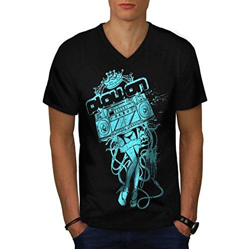 [Play On Music Beat Box Costume Men NEW M V-Neck T-shirt | Wellcoda] (Man Of Steel Costume Tour)