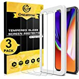 [3 Pack]For iPhone X Screen Protector, Nearpow Screen Protector with [Guide Frame Easy Installation] [Case Friendly] [Crystal Clear] [Bubble-Free Installation] [Scratch Resist] for iPhone X/10
