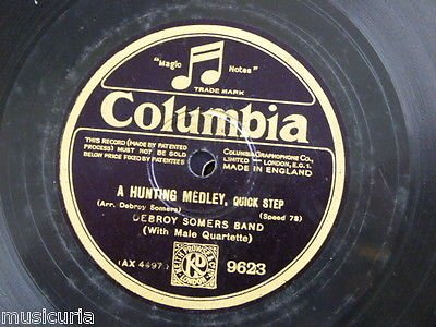 "Price comparison product image 78 rpm 12"" DEBROY SOMERS BAND a hunting medley / community medley 9623 columbia"