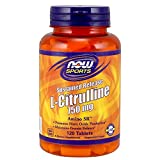 Now Sports Nutrition, L-Citrulline 750 mg, Sustained Release, 120 Tablets