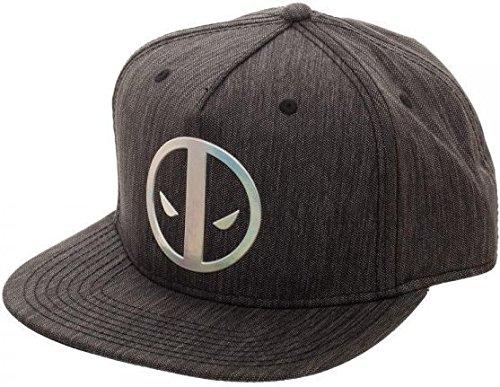 Deadpool Logo Adult Sized Iridescent Weld Woven Snapback Hat]()