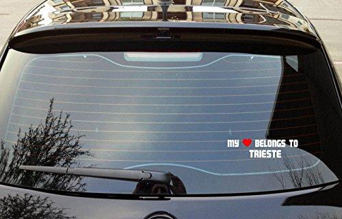MY HEART BELONGS TO TRIESTE Italy Bumper Laptop Window Sticker