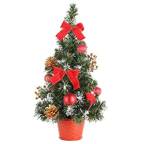 Hot Sale!DEESEE(TM)Artificial Tabletop Mini Christmas Tree Decorations Festival Miniature Tree 40cm (Red)