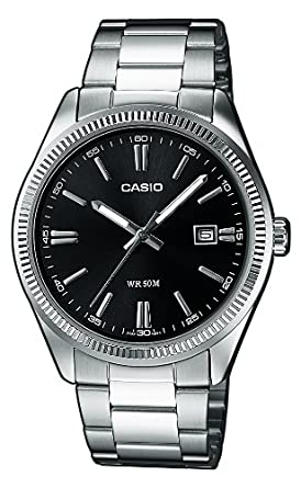 Casio Reloj Analogico para Hombre de Cuarzo con Correa en Acero Inoxidable MTP-1302PD-1A1VEF: Casio Collection: Amazon.es: Relojes