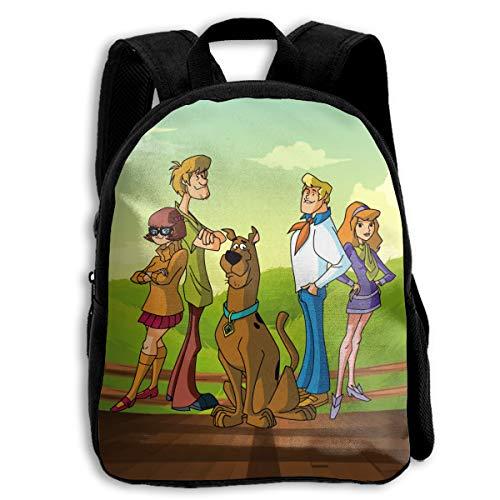 Sheridan Reynolds Scooby-Doo with His Family Kid's Backpack Boys' Girls' School Bookbag for Children Black -